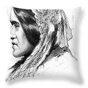 George Eliot (1819-1880) Throw Pillow