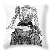 Gibson Girl, 1899 Throw Pillow
