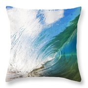 Glassy Breaking Wave Throw Pillow