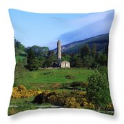 Glendalough, Co Wicklow, Ireland Throw Pillow