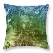 Grants Canal, 1862 Throw Pillow
