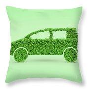 Green Car Throw Pillow