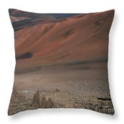 Haleakala Volcano Maui Hawaii Throw Pillow