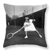 Helen Newington Wills Throw Pillow