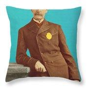 Henry Bergh, American Founder Of Aspca Throw Pillow