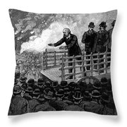 Henry George (1839-1897) Throw Pillow