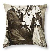 Henry Ward Beecher Throw Pillow by Granger