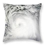 Hurricane Ike Throw Pillow