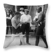 Jack Johnson (1878-1946) Throw Pillow