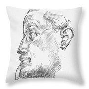 James Joyce (1882-1941) Throw Pillow