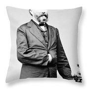 James Longstreet Throw Pillow