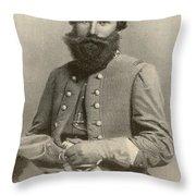 Jeb Stuart, Confederate General Throw Pillow