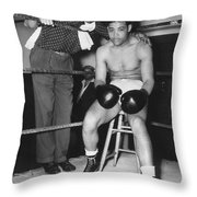Joe Louis (1914-1981) Throw Pillow