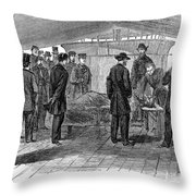 John Wilkes Booth Throw Pillow