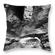 Lava Tube Cave Throw Pillow