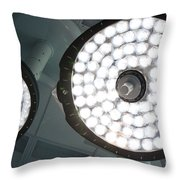 Led Surgical Lights Throw Pillow