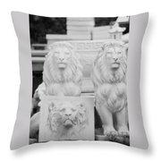 3 Lions Throw Pillow