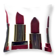 Lipsticks Throw Pillow