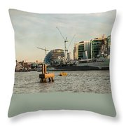 London Skyline Sunset Throw Pillow