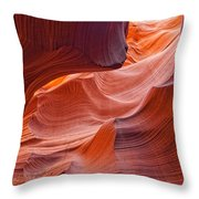 Lower Antelope Canyon, Arizona Throw Pillow