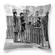 Ludlow Street Jail, 1868 Throw Pillow