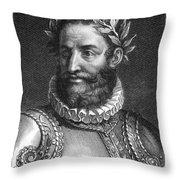 Luiz Vaz De Camoes (1524-1580) Throw Pillow