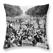 March On Washington. 1963 Throw Pillow by Granger