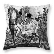 Marquise De Pompadour Throw Pillow
