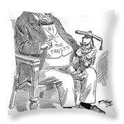 Mckinley Cartoon, 1900 Throw Pillow