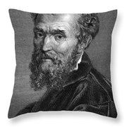 Michelangelo (1475-1564) Throw Pillow by Granger