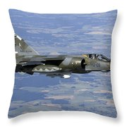 Mirage F1cr Of The French Air Force Throw Pillow