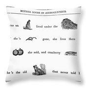 Mother Goose, 1849 Throw Pillow
