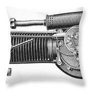 Motorcycle, 1902 Throw Pillow