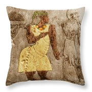 Muscular Dystrophy, Ancient Egypt Throw Pillow