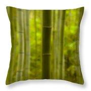 Mystical Bamboo Throw Pillow