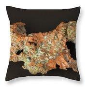 Native Copper Throw Pillow