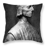 Niccolo Machiavelli Throw Pillow by Granger