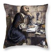 Nicholas Ridley (1500-1555) Throw Pillow