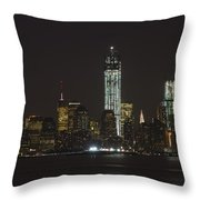Nyc Harbor View Throw Pillow