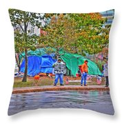 Occupy Buffalo Throw Pillow