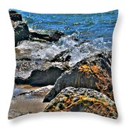 3 Of Mother Natures Finest  Textures Throw Pillow