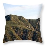Ojai Valley With Snow Throw Pillow