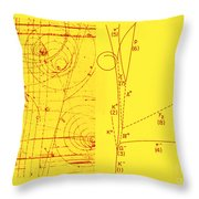 Omega-minus Particle, First Observation Throw Pillow