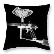 Paintball Gun Throw Pillow