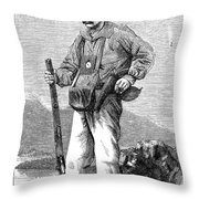 Paul Du Chaillu (1831-1903) Throw Pillow