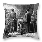 Pilgrims: Thanksgiving, 1621 Throw Pillow