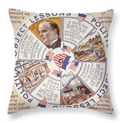 Presidential Campaign, 1896 Throw Pillow