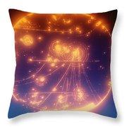Proton-photon Collision Throw Pillow