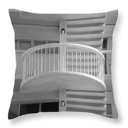 3 Rails In Black And White Throw Pillow
