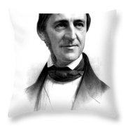 Ralph Waldo Emerson, American Author Throw Pillow